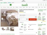 Dunelm Amelie king size bed new