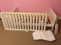 Mothercare Pure Cot Bed - Converts from Cot to Toddler Bed