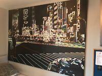 Huge city scape canvas print
