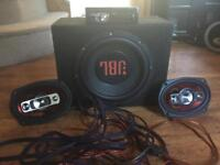 Stereo, sub, amp, speakers and wires