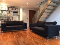 Two 3-seater sofas set - excellent condition
