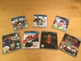 7 x PS3 Games Bundle including FIFA 16 - All excellent condition