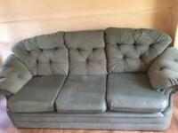 FREE BLUE SETTEE AND CHAIR