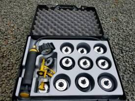 Radiator pressure tester for identifying leaks not snap on