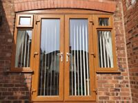 UPVC patio doors and side windows