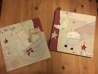 Nursery Canvases X2