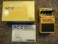 Boss AC-2 Acoustic Simulator Guitar Effects Pedal