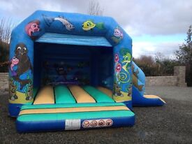 Bouncy castle with attached side slide