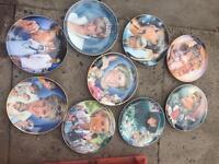 9x decorative plates of Diana princess of wales