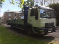 Man truck 7.5 ton 180 bhp spares or repairs