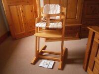 BabyDan Danchair Natural Highchair/High Chair (Similar To Stokke Tripp Trapp)