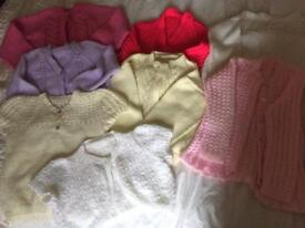 Hand knitted cardigans Sizes 5 to 6
