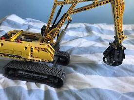 Lego technic digger crane