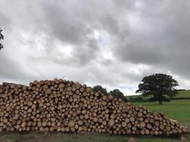 Quality seasoned hardwood logs