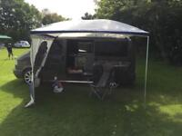 Reimo palm beach sun canopy with side panel