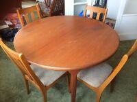 Teak Dinning room table & 4 Chairs