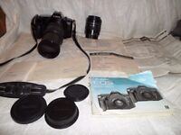 CAMERA CANON EOS 650 WITH TWO LENS EF 75-300mm & AF 28-70mm