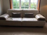 Italian leather 3 seater couch