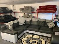 Grey & Black SCS corner sofa delivery 🚚