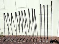 Complete set of Ladies Golf Clubs with three woods and a Mazumo Driver