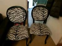 Zebra chairs