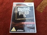 Wii GUITAR HERO 5 GAME