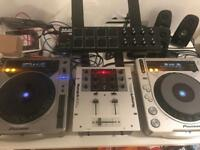 Pioneer cdj 800+cdj 800 mk2 and Numark M101 mixer