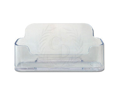 Clear Acrylic Business Card Holder Display Stand For Office Desk