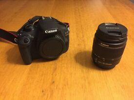 Canon EOS 1200D body and 18-55mm lens. Comes with a 64gb SD card.