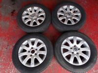 Golf MK5 alloy wheels and tyres (x4)