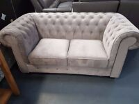 Ex Display Charlotte 2 Seater Chesterfield Sofa. On Sale From £579 To £349. Ready For Delivery