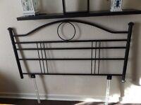 black double bed matal head board