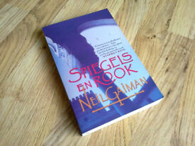 """Spiegels & Rook"" signed by Neil Gaiman, Dutch paperback – read once"