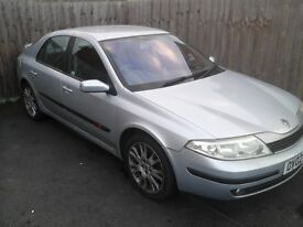 RENAULT LAGUNA FOR SALE 02 PLATE.