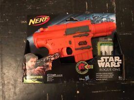 Star Wars Nerf Blaster Cptn Cassianandor BRAND NEW!!