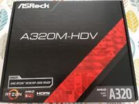 Brand New ASRock A320M-HDV ddr4 am4 Motherboard