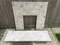 Marble Hearth & Back panel (fire surround)
