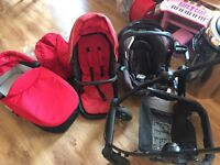 Graco Evo pram and travel system including carry cot and baby seat