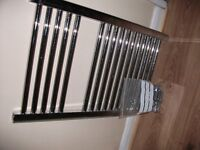 towel radiator silver