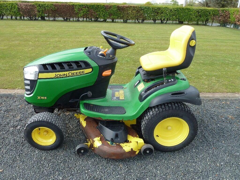 "John Deere X165 Ride On Mower with 48"" Cutting / Mulching Deck - Year 2011"