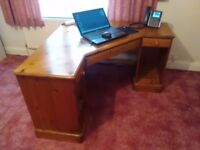 Two Ducal pine desks with