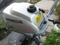 Honda 2HP 4-Stroke Outboard Engine (air cooled so no impeller to worry about)