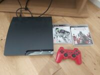 Sony Slimline PS3 with new controller and 2 games