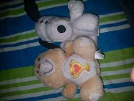 Very old original Snoopy and Care Bear