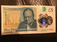 New 5 pound note AC