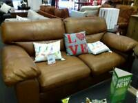 Tan leather sofa