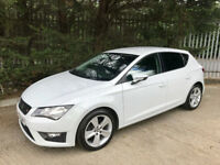 2013 Seat Leon FR 2.0 Tdi * Pearl White 5 door* £20 a year Road tax!