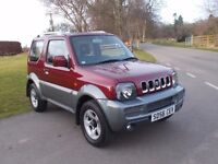 2006 56 SUZUKI JIMNY JLX + 3 DOOR 4X4 MET RED/GREY