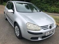 VW GOLF 1.4S 5 DOOR 55 REG IN SILVER WITH GREY TRIM, FULL SERVICE HISTORY AND MOT JUNE 2019