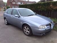 Lovely Alfa Romeo 156 Estate, new M.O.T / news rear brake pads and other parts! Genuine bargain.